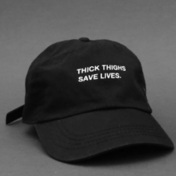 thick thighs save lives hats avaliable in black. price is firm Accessories  Hats  ea0eda3f067