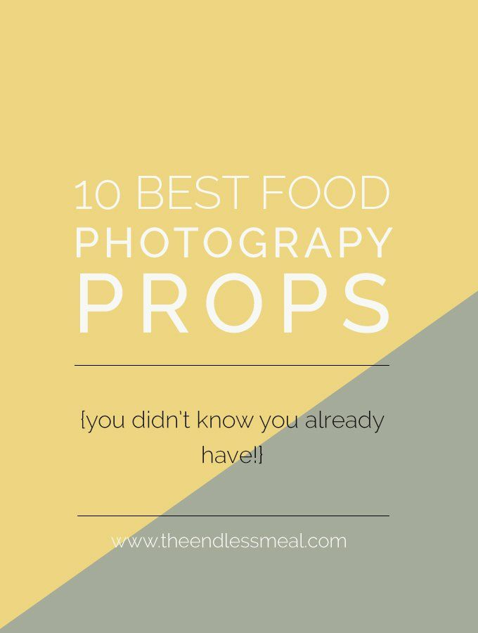 The 10 Best Food Photography Props | These everyday household items are the food photography props I use the most. |theendlessmeal.com