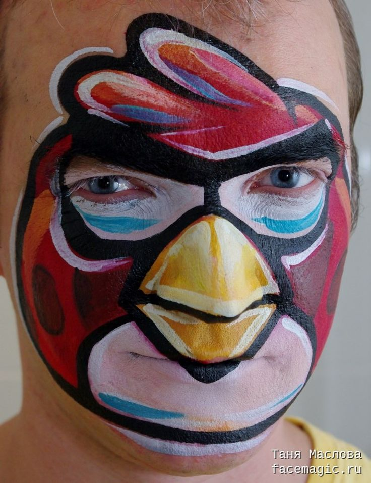42 best Face Paint Angry Birds images on Pinterest   Face ...