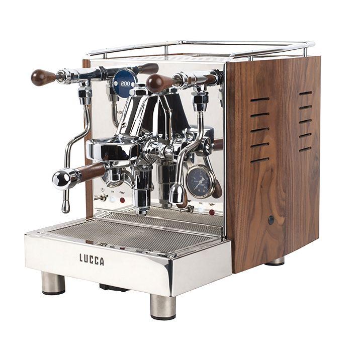 quickmill lucca m58 espresso machine in walnut from Clive Coffee