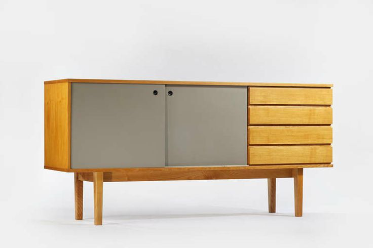 1950s Ash Cabinet by Pierre Guariche / A.R.P. | From a unique collection of antique and modern cabinets at http://www.1stdibs.com/furniture/storage-case-pieces/cabinets/