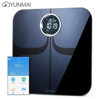 YUNMAI M1301 - $56.99 (16% OFF) 🔥 Bluetooth Smart Weighing Scale BLACK ITO Tempered Glass Surface Intelligent Electronic Health Weigher  #YUNMAI, #Smart, #Weight, #gearbest, #Scale, #весы, #напольные   2025