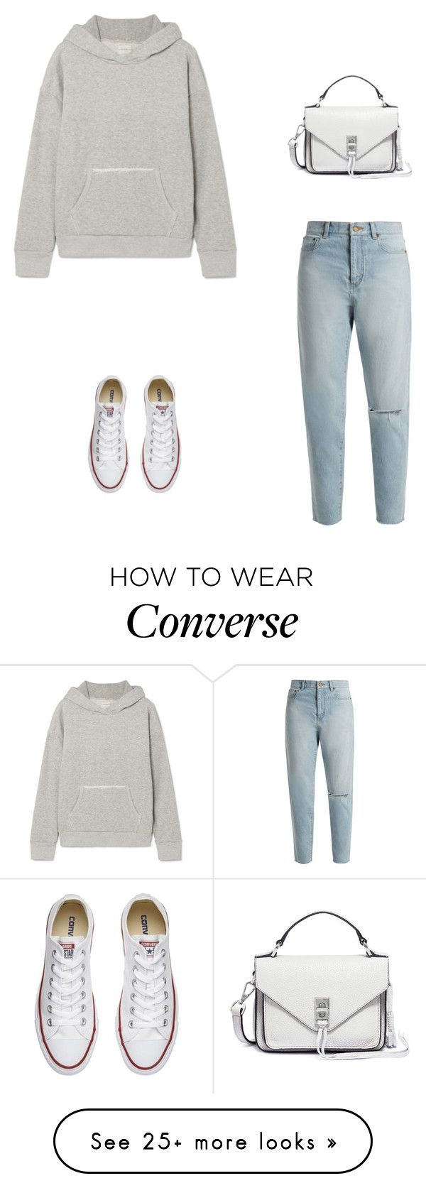 """Comfy Clothes"" by elshaymac on Polyvore featuring Simon Miller, Converse, Yves Saint Laurent and Rebecca Minkoff"