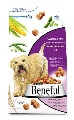 Aus der Kategorie Trockenfutter  gibt es, zum Preis von EUR 16,73  <p>Womit können Sie Ihren vierbeinigen Freund noch mehr verwöhnen? Durch eine ausgiebige Streicheleinheit oder einen langen Spaziergang im Park - oder mit einer reichhaltigen Portion BENEFUL? Hergestellt mit Huhn bietet BENEFUL Glückliche Jahre 7+ eine hervorragend ausgewogene Nahrung, die Ihrem Hund auch im Alter hilft, verspielt und aktiv zu bleiben. Die gesunde Mahlzeit enthält essentielle Fettsäuren für glänzendes Fell…