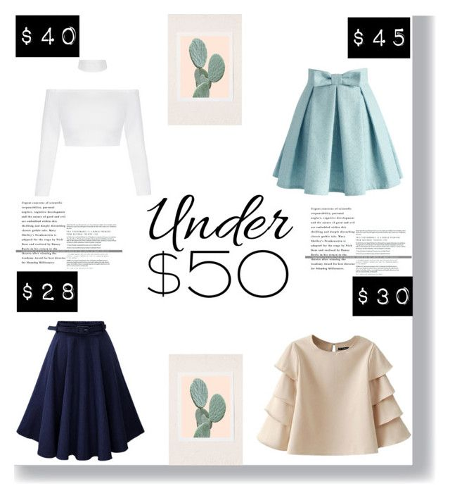 """""""under $50"""" by littlelook on Polyvore featuring Chicwish, Urban Outfitters, under50 and skirtunder50"""