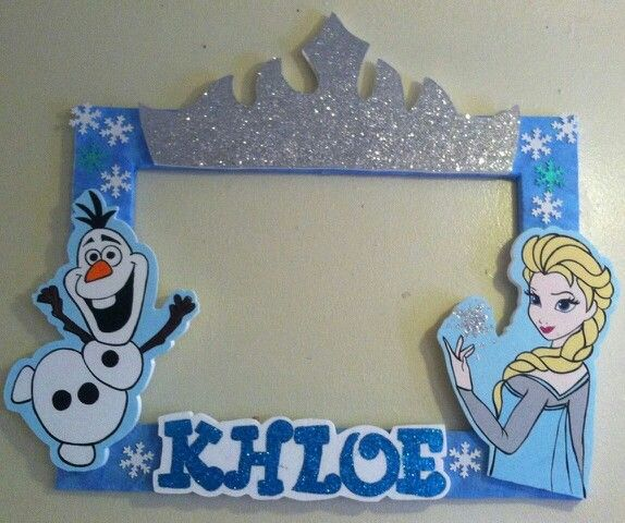 Frozen picture frame take your picture in it