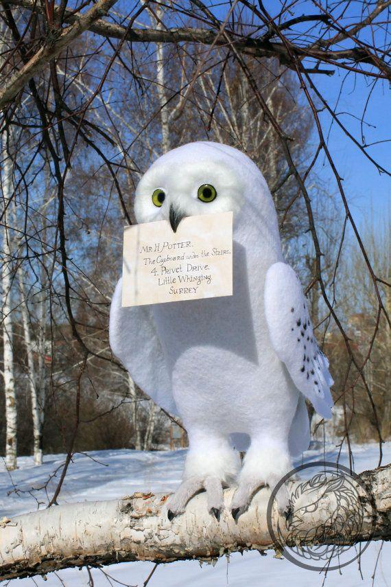 Verschneiten weiße Eule arktischen Eule Eule von Harry von OwlHovel