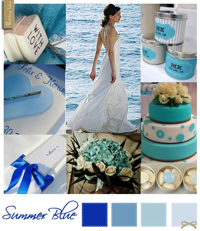 Wedding Moodboard   Summer Blue