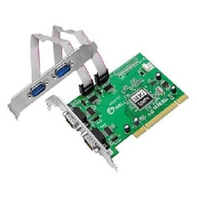 SIIG IO Card JJ-P45012-S7 CyberSerial 4S 550 PCI 4-Port Serial 9Pin Controller Card by SIIG. $55.83. Description:SIIG's CyberSerial 4S 550 PCI serial adapter card is an excellent solution for you to connect multiple serial-based devices to your system. It is designed to add four 9-pin (DB9) serial ports to your PCI-enabled desktop computer. This 4-port serial adapter card comes with four high-speed 16550 UART serial ports supporting data transfer rates up to 230Kb/s. T...