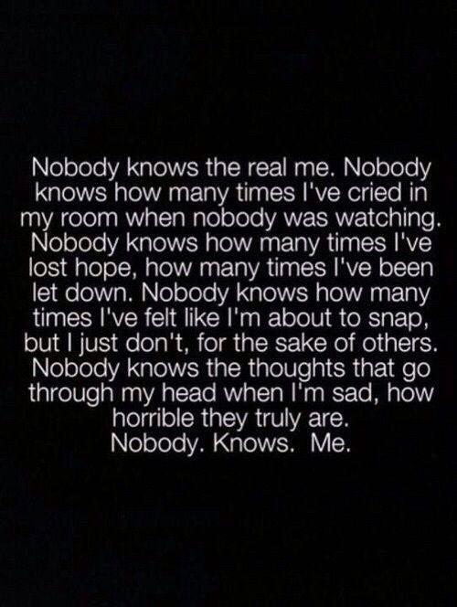 sad, quote, and nobody image