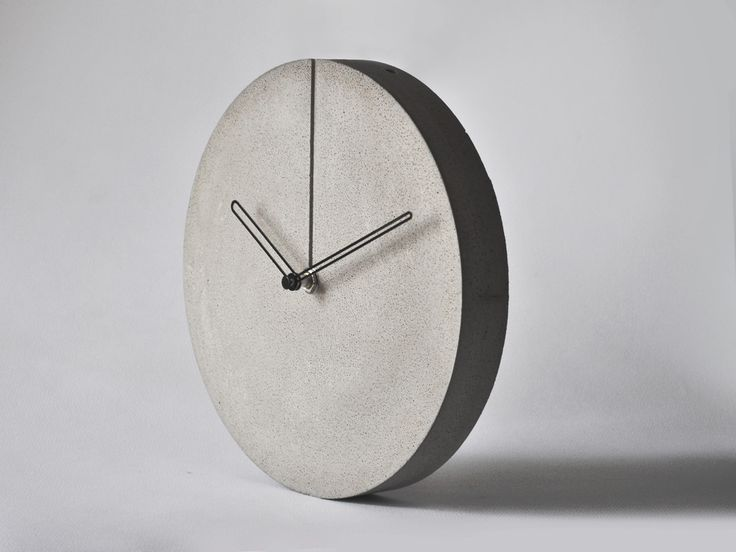 concrete minimal wall clock