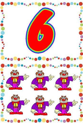 Cartas de números del 1 al 10