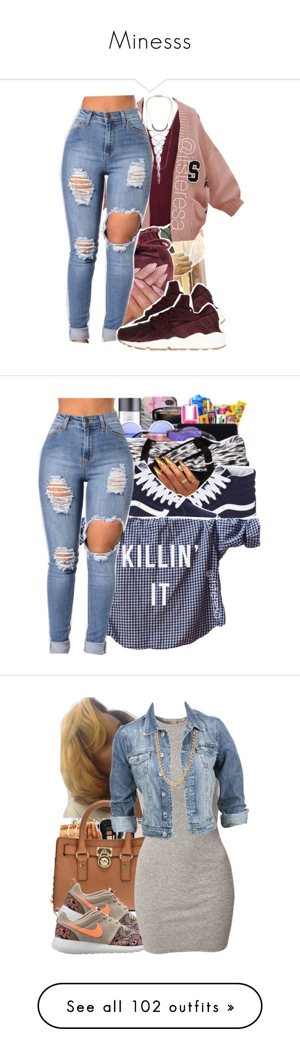 """""""Minesss"""" by ashantisowell ❤ liked on Polyvore featuring T By Alexander Wang, WithChic, INC International Concepts, NIKE, Isabel Marant, Vans, Humör, MICHAEL Michael Kors, NLY Trend and Modström"""