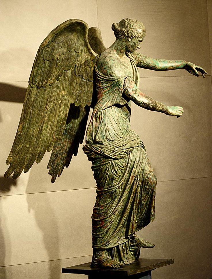 Winged Victory. Bronze. 1st century CE.  Inv. No. MR 369. Brescia, Santa Giulia…
