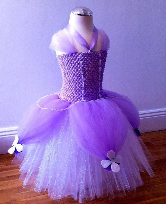 Sofia the First inspired princess tutu dress for girls for special occasion or birthday party costume pageant