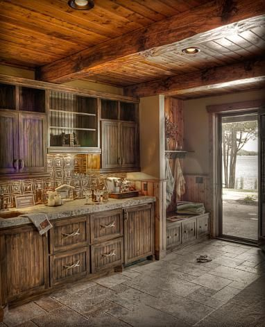 Land 39 s end development gull lake cabin fever for Rustic lake house kitchens