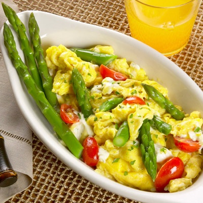 Scramble with Herbed Cream Cheese and Tomato: Food Recipes, Herbed ...