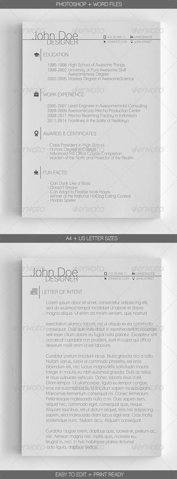 best images about basic resume professional a sleek and mini st two page resume template microsoft word and adobe photoshop files letter and sizes c