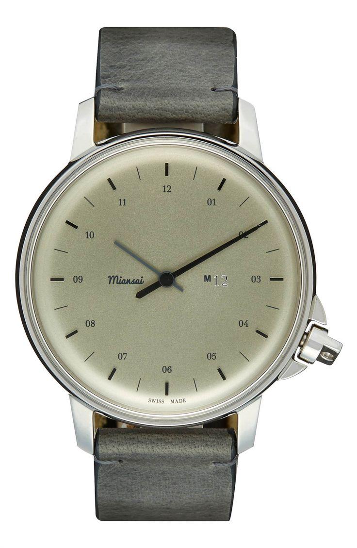 Main Image - Miansai 'M12' Leather Strap Watch, 39mm