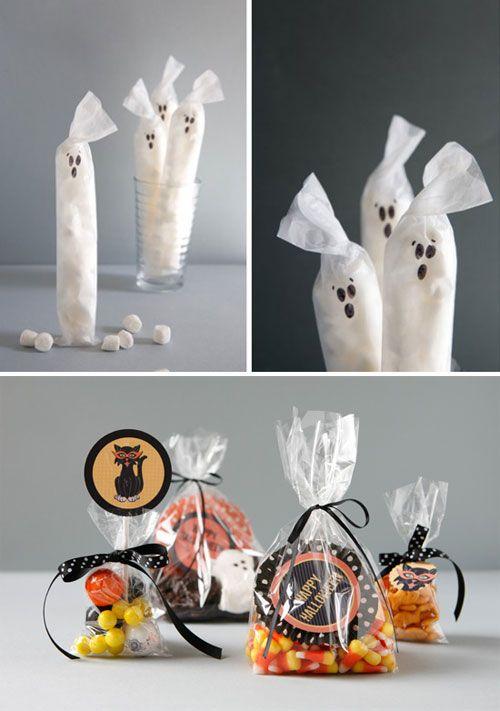 Gruselige Halloween Dekorationen gespensctische süßigkeiten tüten