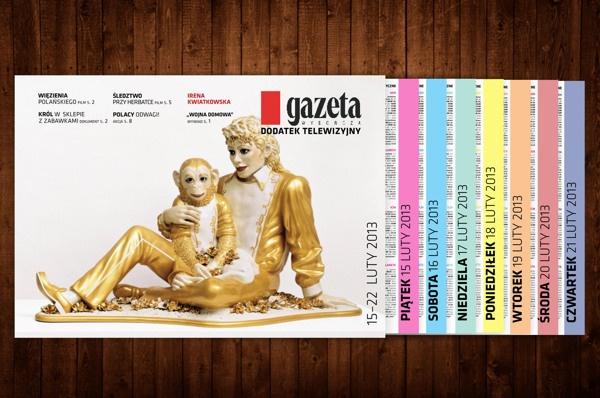 Brochure design - TV program/redesign by QCHA Ewa Kucharska, via Behance