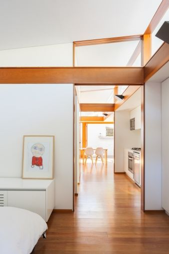 The granny flat includes a kitchen and lounge area