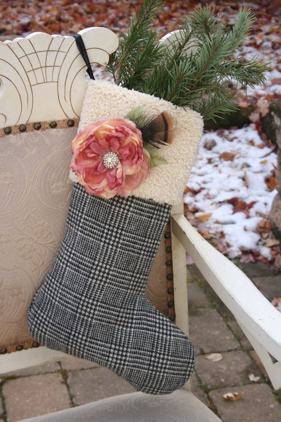 A Christmas Garden 2 - Recycled Wool CHRISTMAS STOCKING