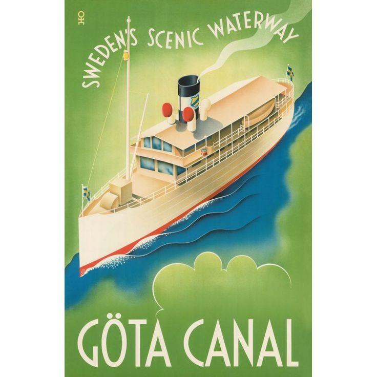 Göta Kanal, Sweden's scenic waterway / Vykort11