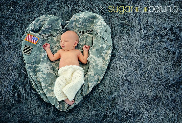 Newborn Photography, Army Military  #newbornphotography  http://www.facebook.com/pages/Sugar-Petunia-Photography/132168700131384    Photo by Sugar Petunia Photography