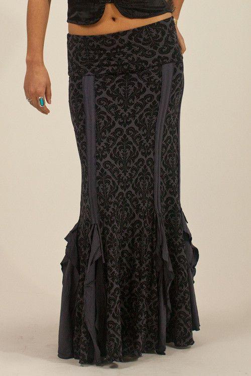 Flamenco Skirt - Charcoal | Phoenix Rising Designs