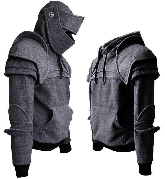 Duncan de gris oscuro blindado caballero Hoodie100% por iamknight