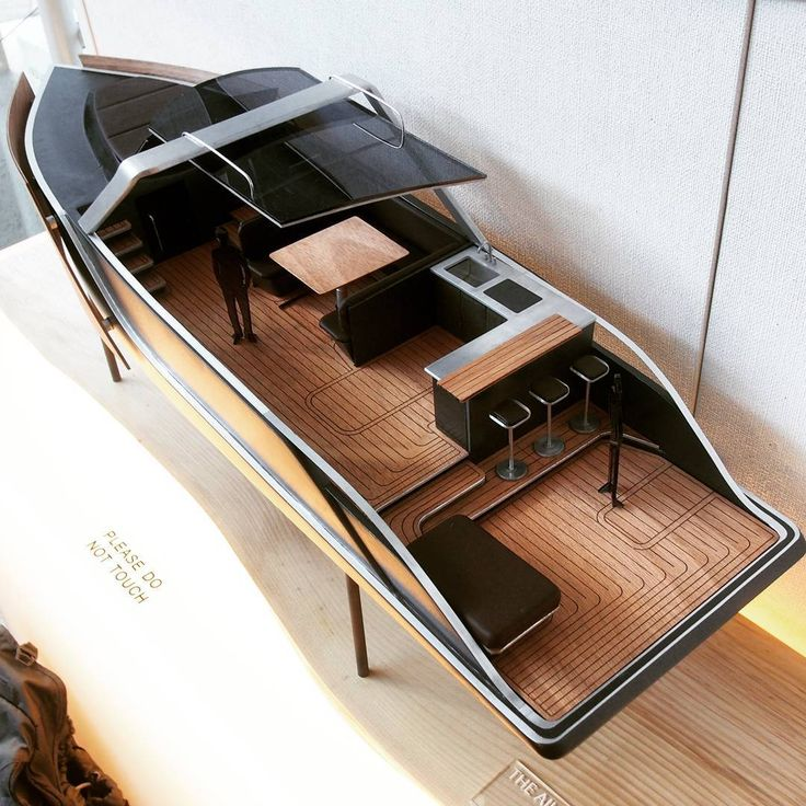 """90 Likes, 4 Comments - Cody Tucker (@_codytucker) on Instagram: """"Waited a long time to design a boat and here she is. This is 1/15 scale model of a 40ft luxury boat…"""""""