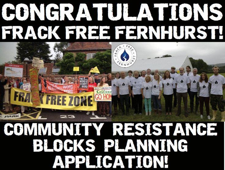 Congratulations @FFFernhurst!!! Celtique's #fracking application BLOCKED by community