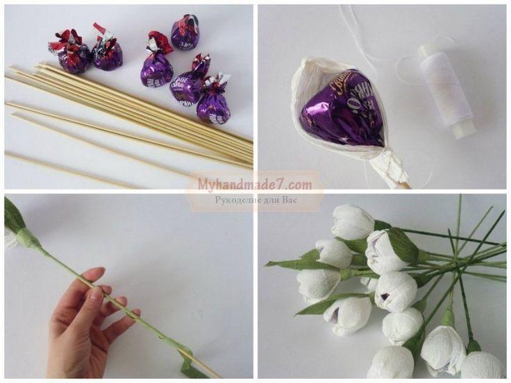 Простые букеты из конфет своими руками для начинающих