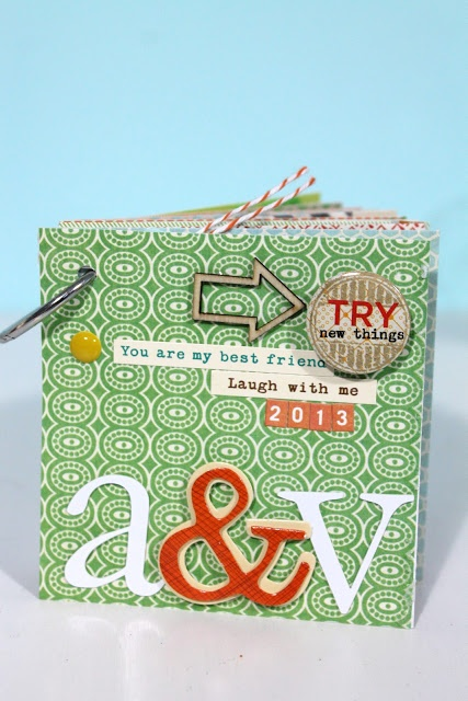 A book of 12 things she is going to do this year with her BFF.  Such a great idea!  Click to her blog to see all the pages