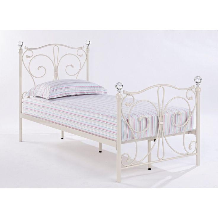White Metal Bed Frames best 25+ single metal bed frame ideas on pinterest | single metal