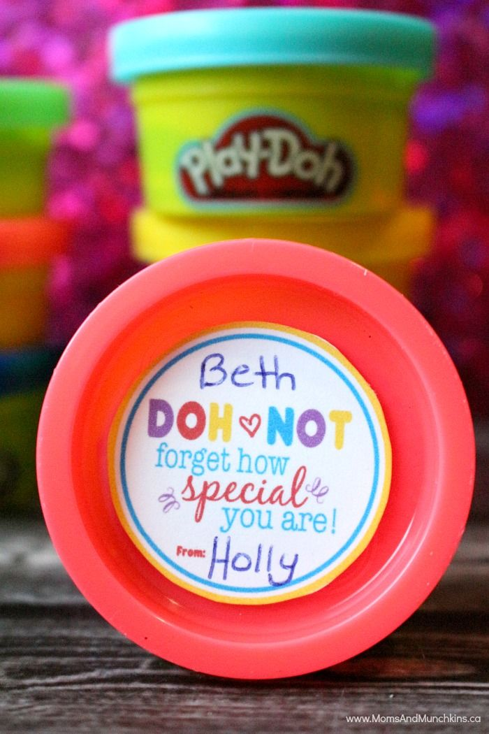 These free Play-Doh Valentine Tags are perfect for classroom parties. They are designed to fit the small favor-sized Play-Doh containers.