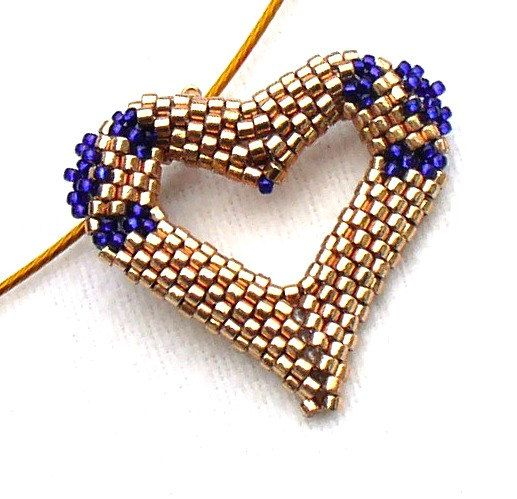 Valentines Gold Heart Pendant by DianaCoe, £21.00