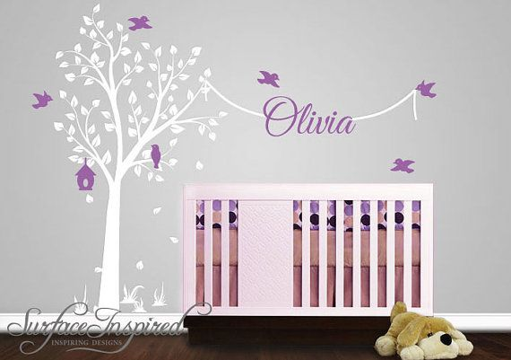 Wall Decal Nursery Wall Decals Tree Decal With by SurfaceInspired, $135.00