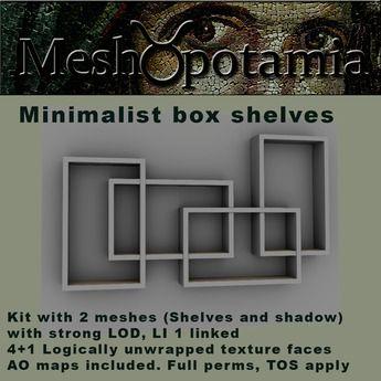 Meshopotamia box shelves w shadow (open me)