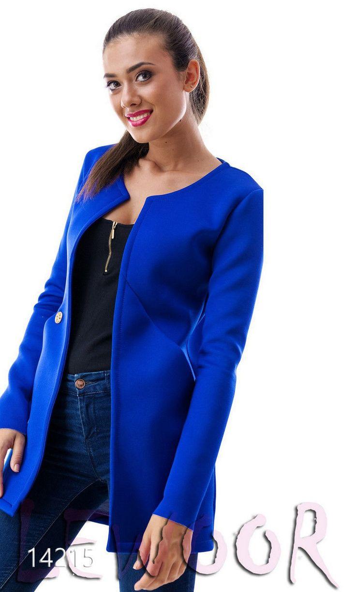 Длинный пиджак до средины бедра - купить оптом и в розницу, интернет-магазин женской одежды lewoor.com