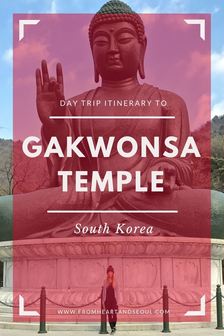 If you're exploring South Korea, make sure you get out of Seoul and make a day trip to the countryside of Cheonan for this experience. Gakwonsa Temple and the big Buddha are sights that shouldn't be missed!