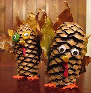 Pine Cone Turkey | Naturally Educational: Thanksgiving Turkey, Pinecone Turkey, Thanksgiving Crafts, Crafts Ideas, Cones Turkey, Kids Crafts, Pine Cones, Turkey Pinecone, Art Activities