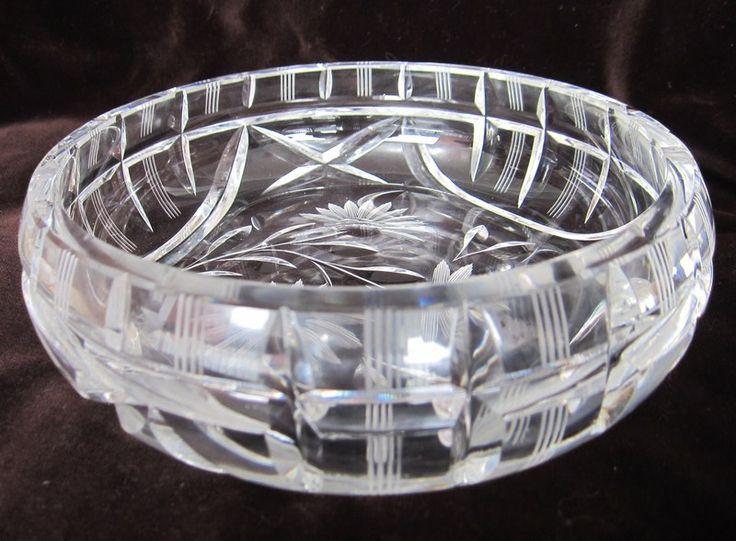 Vintage Kristall - Prachtvolle schwere  Bleikristall Schüssel Böhmen - ein Designerstück von schoenesundaltes bei DaWanda