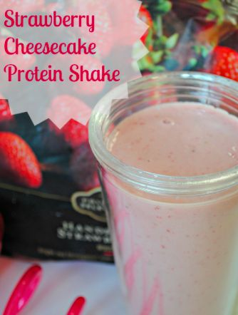 Strawberry Cheesecake Protein Shake!!  CHEESECAKE! YES!! #BESTPROTEINSHAKERECIPES