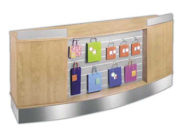 cash wrap | 8ft Gift Display Cash & Wrap Shop Counter