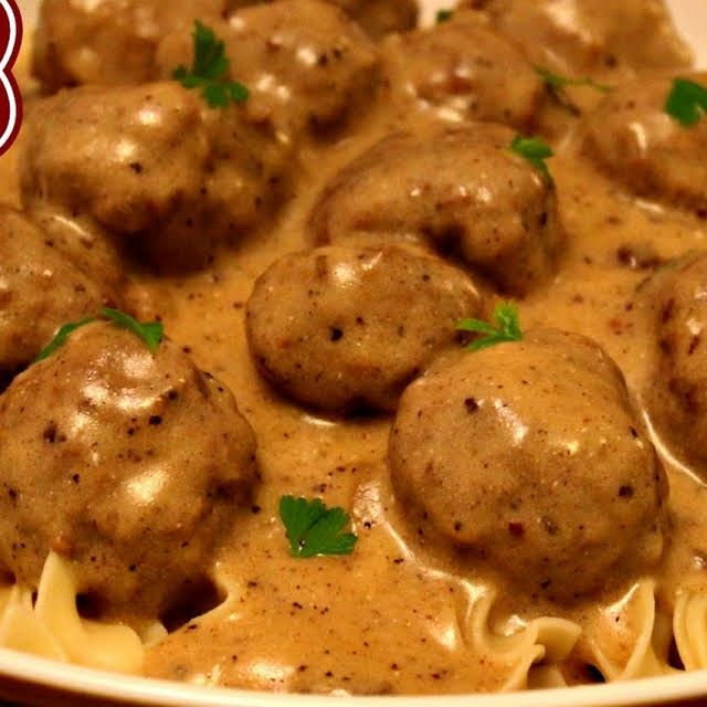 Swedish Meatballs Recipe Yummly Recipe Swedish Meatball Recipes Meatballs Swedish Meatballs Sour Cream