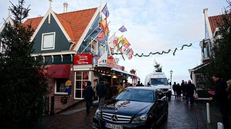 shopping street Volendam Holland