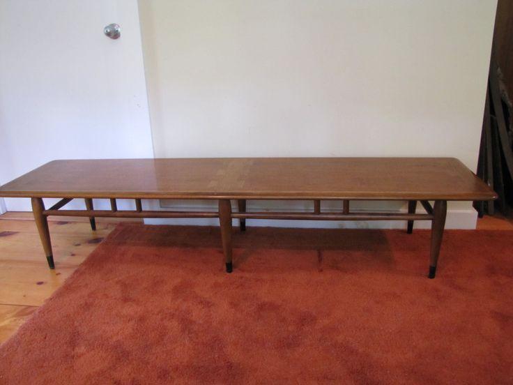 Lane Acclaim Coffee Table, Mid Century Modern, Extra Long Lane Cocktail  Table, Keystone