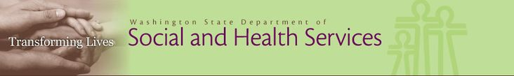 Washington State Department of Social and Health Services Home page